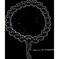Bracelet mala tibétain - Tourmaline noire