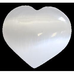 Coeur en Sélénite Blanc