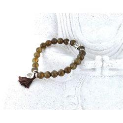 Bracelet Yoga Labradorite Pompon et Lotus